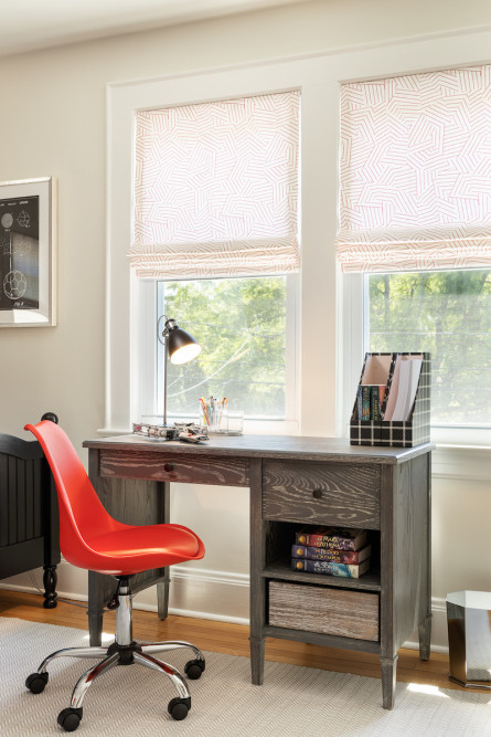 wooden-desk-red-chair-campbell-minister-design